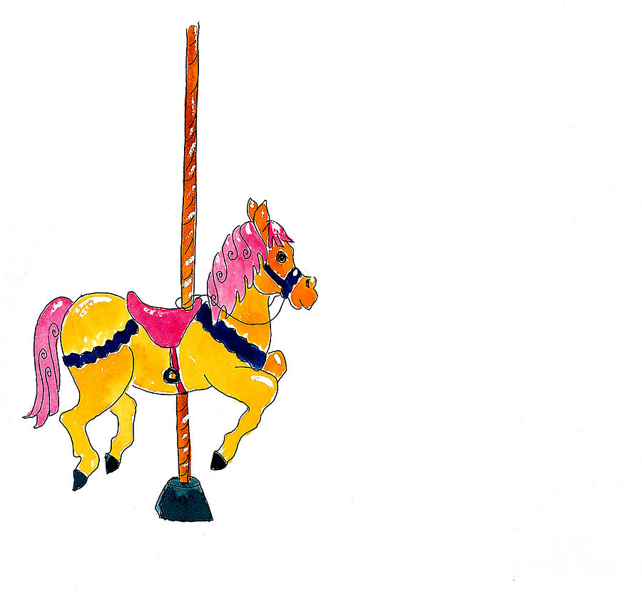 Carousel Pony Mixed Media - Carousel Pony by Leah Wiedemer