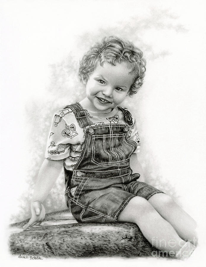 Portrait Drawing - Carpe Diem by Sarah Batalka