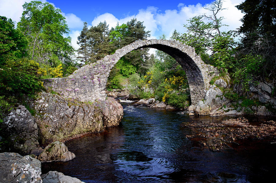 Clouds Photograph - Carr Bridge Scotland by Don and Bonnie Fink