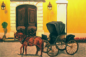 Horse Painting - Carriage Horses by Navah Ross