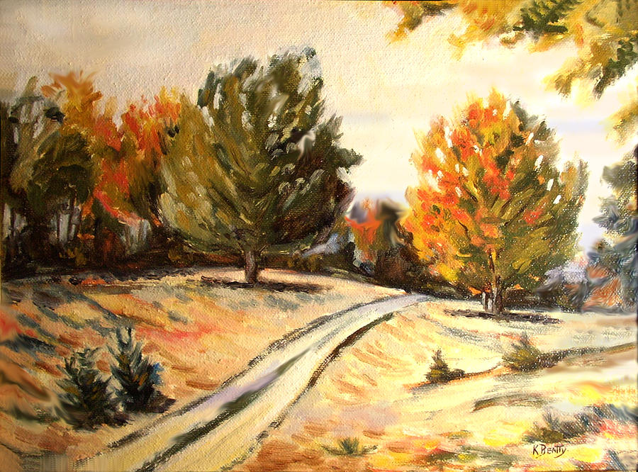 Oil Painting Painting - Carriage Path by Karla Beatty