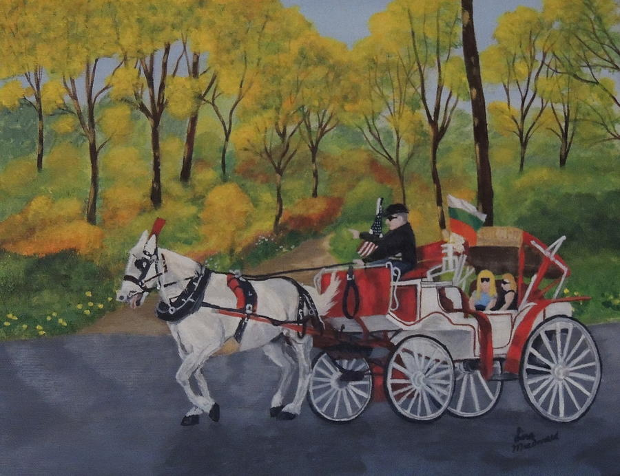 Park Painting - Carriage Ride by Lisa MacDonald