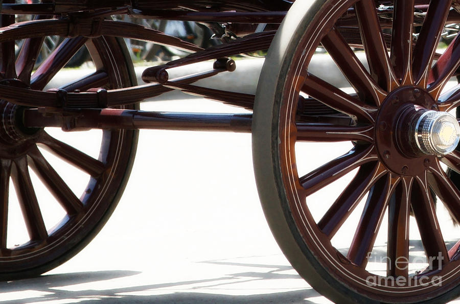 Carriage Photograph - Carriage Wheels by Linda Shafer