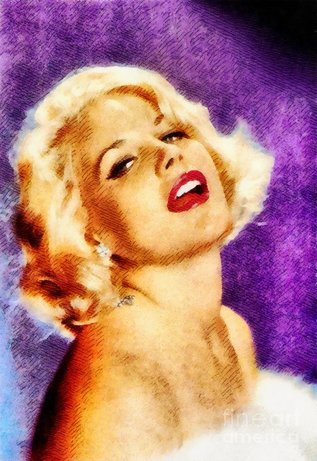 Carroll Baker, Vintage Actress By John Springfield Painting