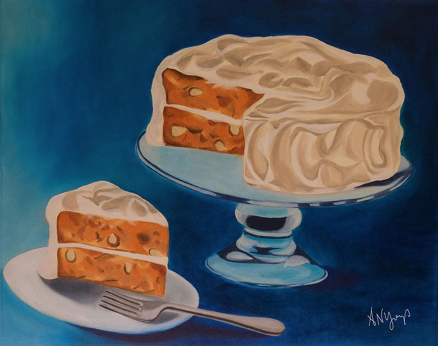 Carrot Cake Painting - Carrot Cake by Aimee Youngs