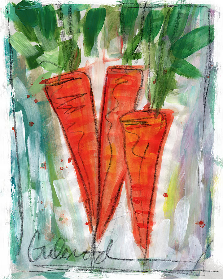 Carrots Painting - Carrots by Linda Woods