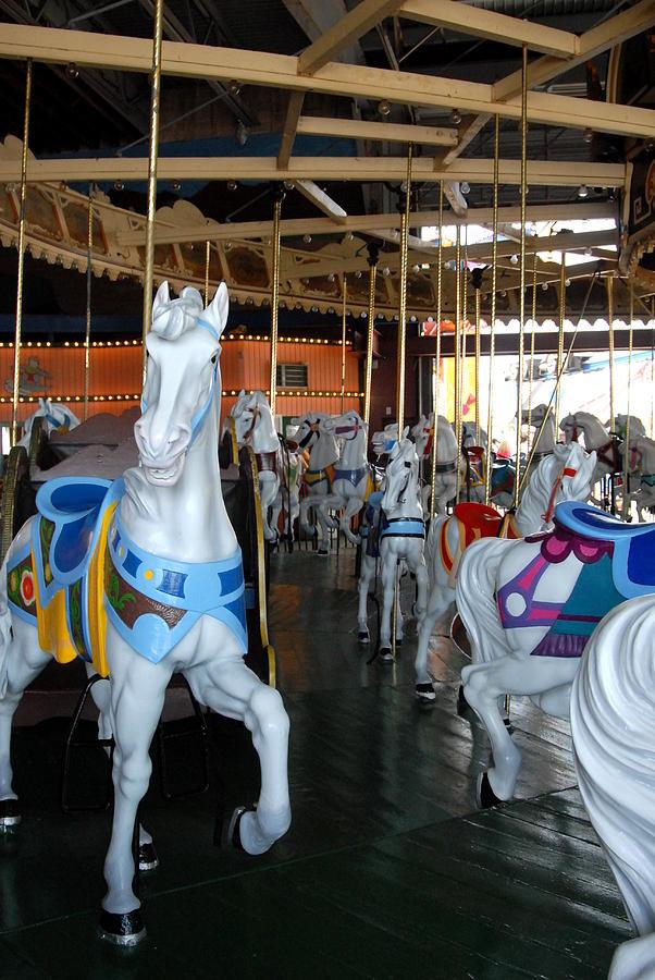 White Horse Photograph - Carrousel 26 by Joyce StJames