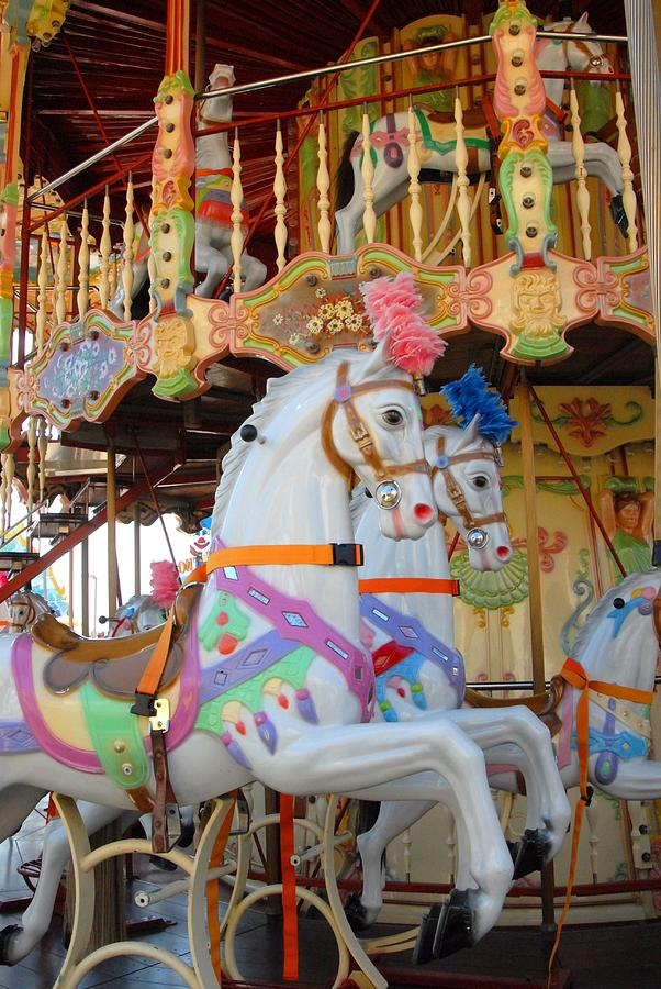 Horse Photograph - Carrousel 48 by Joyce StJames
