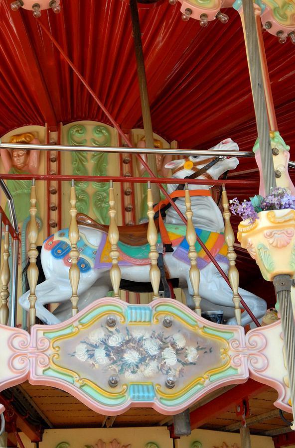 Horse Photograph - Carrousel 50 by Joyce StJames
