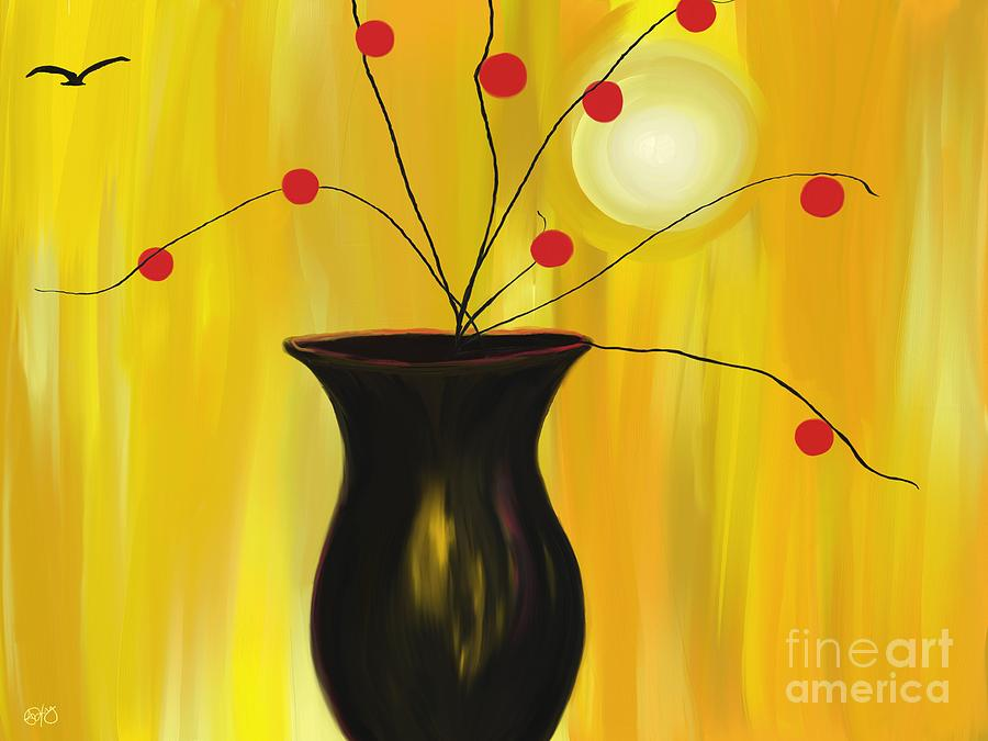 Vase Painting - Carrying On by Roxy Riou
