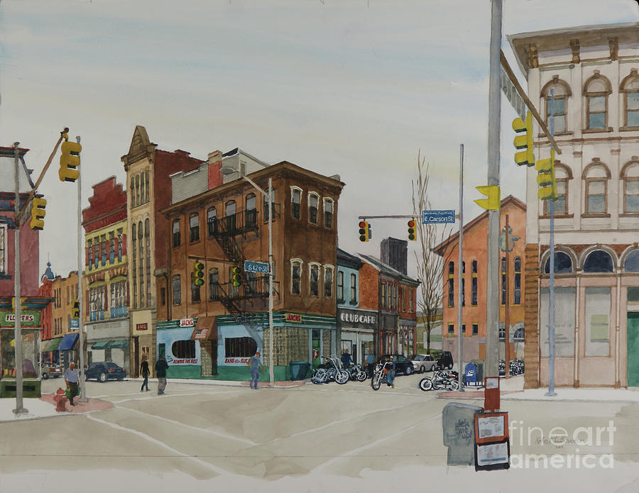 Pittsburgh Painting - Carson Street Southside Pittsburgh by Robert Bowden