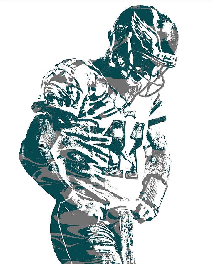 Eagles Mixed Media   Carson Wentz Philadelphia Eagles Pixel Art 22 By Joe  Hamilton