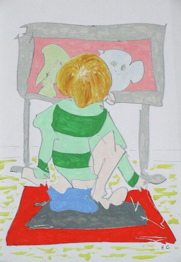 Lad Painting - Cartoon by Horace Cornflake