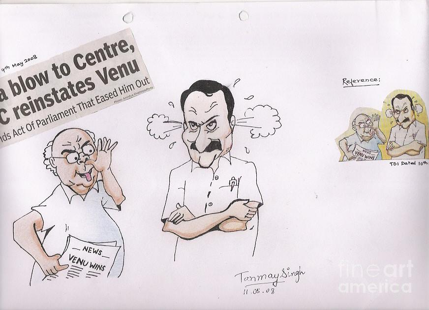 Aiims Painting - Cartoon by Tanmay Singh