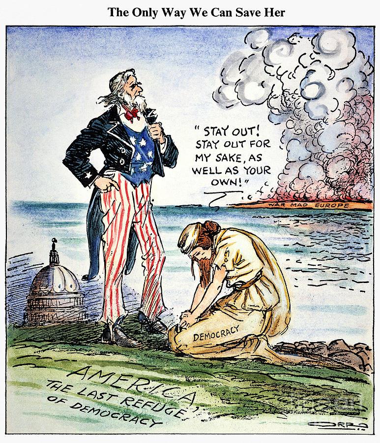 1939 Photograph - Cartoon: U.s. Intervention by Granger