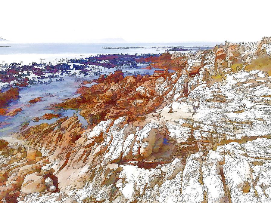 Rocks Digital Art - Carved By The Sea by Jan Hattingh