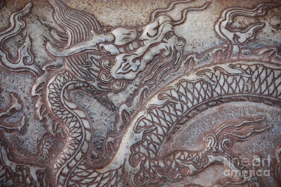 Chinese Dragon Photograph - Carved Dragon by Carol Groenen