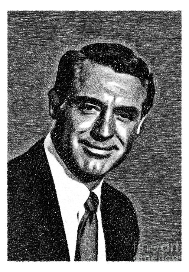 Cary Grant, Vintage Actor By Js Drawing