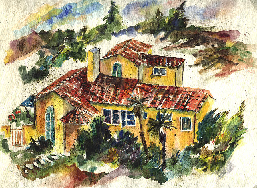 House Painting - Casa Amarillo by Lily Hymen