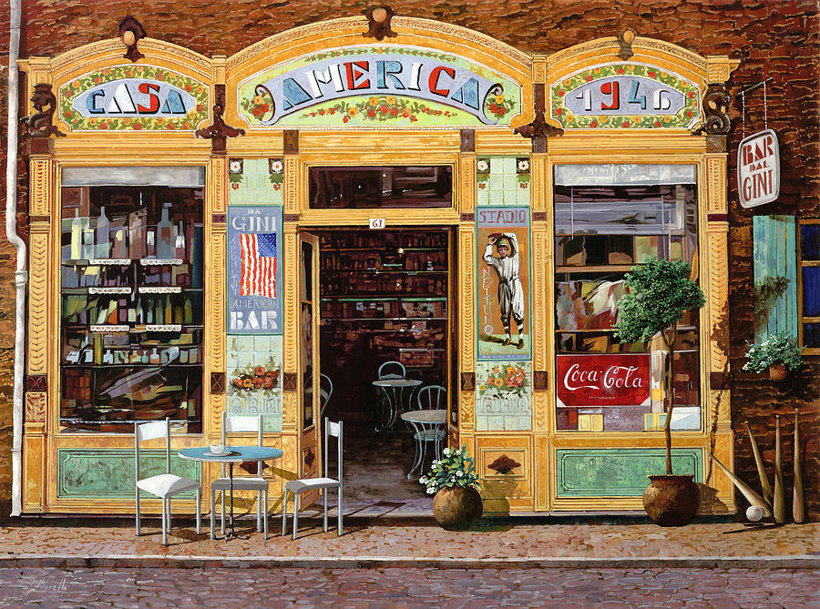 Coffe Shop Painting - Casa America by Guido Borelli