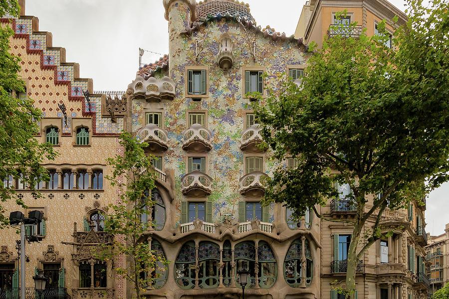 Passeig De Gracia Photograph - Casa Batllo In Barcelona, Spain by Blaz Gvajc