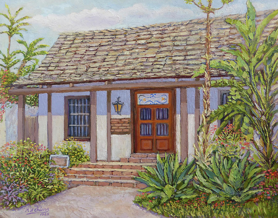 Old Town Painting - Casa De Miguel Pedrorena by Miguel A Chavez