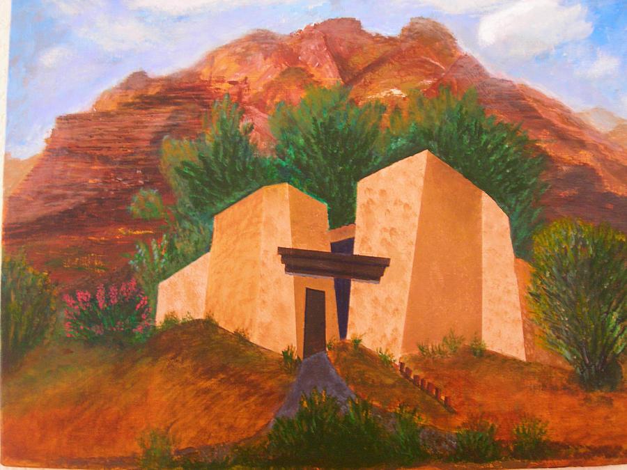 Landscape Painting - Casa De Pax Y Bueno by Jack Hampton