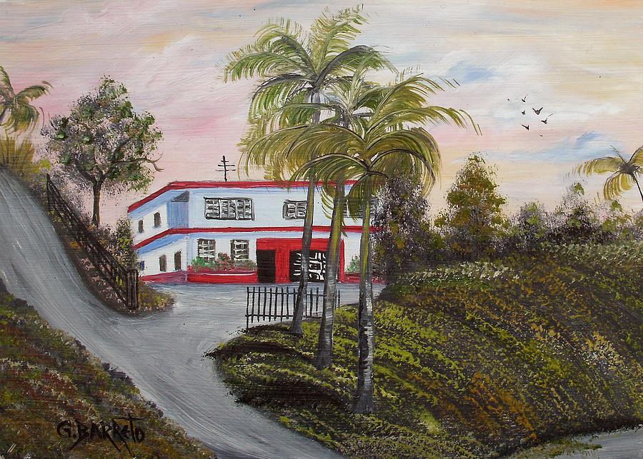 Cerro Gordo Painting - Casa En Montanas De Cerro Gordo by Gloria E Barreto-Rodriguez