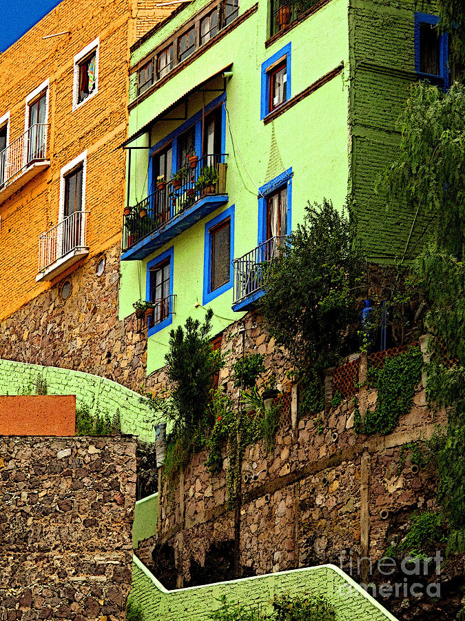 Darian Day Photograph - Casa Lima On The Hill by Mexicolors Art Photography