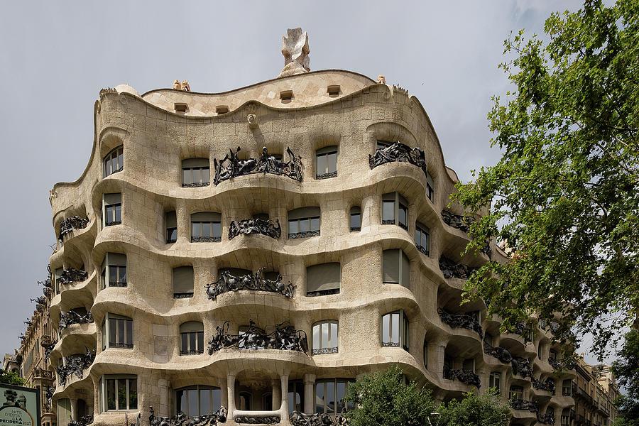Casa Mila Photograph - Casa Mila In Barcelona, Spain by Blaz Gvajc