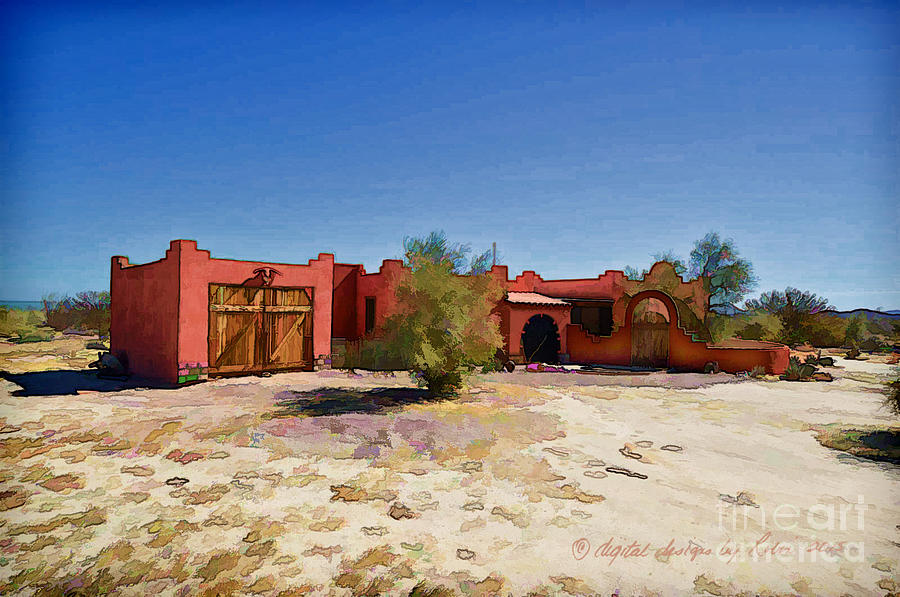 Red House Digital Art - Casa Rojas by Robin  Waters