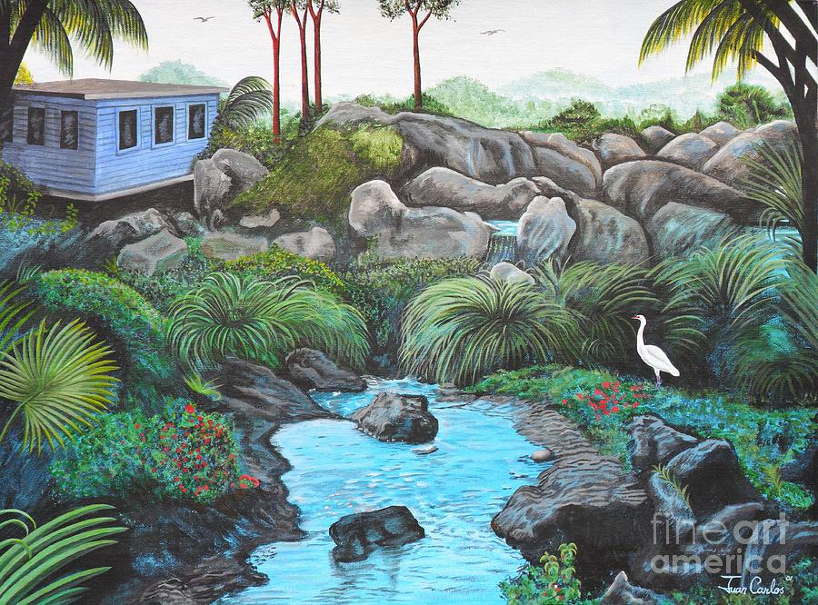 Puerto Rico Painting - Casa Tropical by Juan Gonzalez