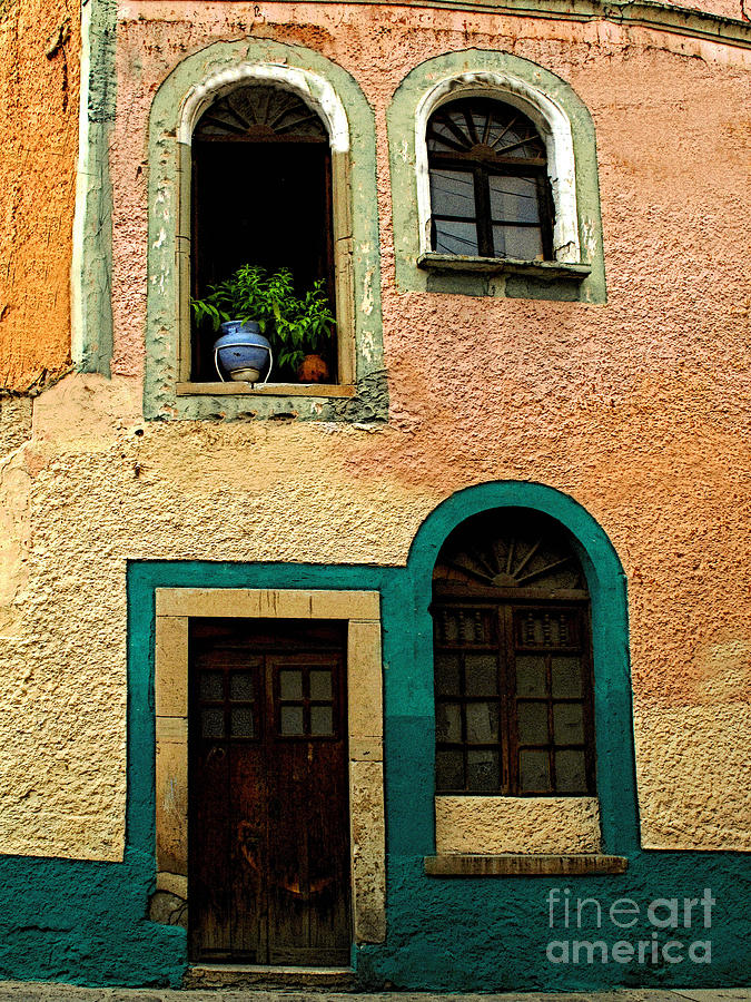 Darian Day Photograph - Casa With Sea Green by Mexicolors Art Photography