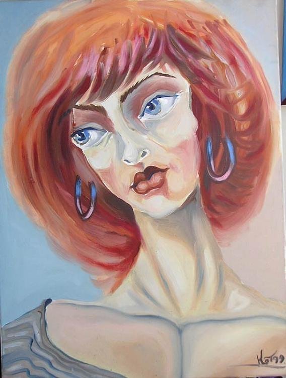 Israel Painting - Casandra by Kosta