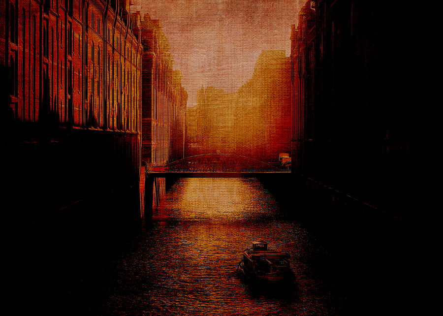 Venice Digital Art - Casanovas Waterway by Sarah Vernon