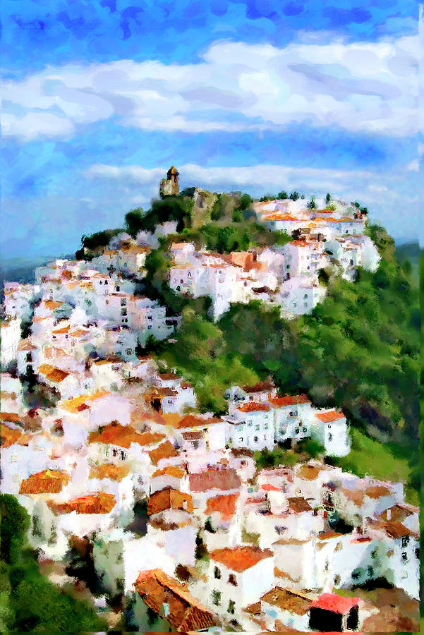 Casares Mixed Media - Casares From Lauras View by Chris North