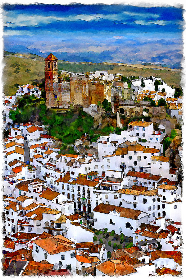 Casares Mixed Media - Casares From Signal Hill by Chris North