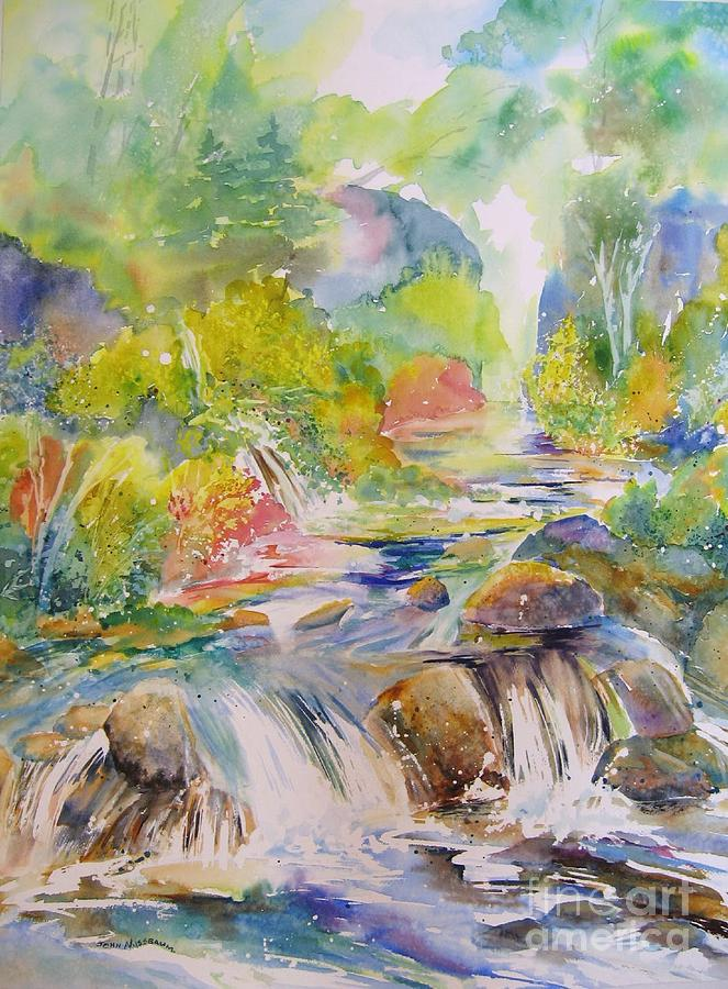 Abstract Paintings Painting - Cascade Canyon by John Nussbaum