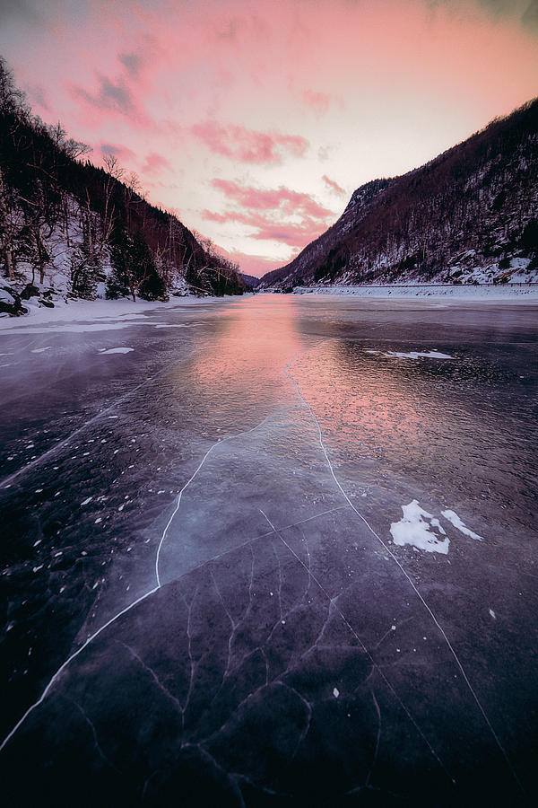 Cascade Lake Photograph - Cascade Ice by Brad Wenskoski
