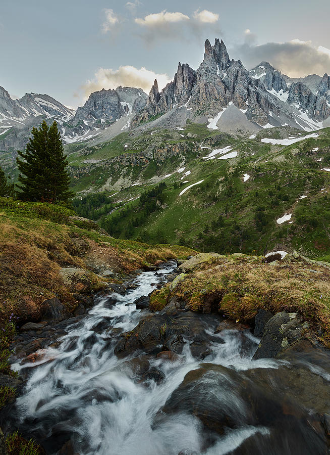 Decor Photograph - Cascade in the Alps II by Jon Glaser