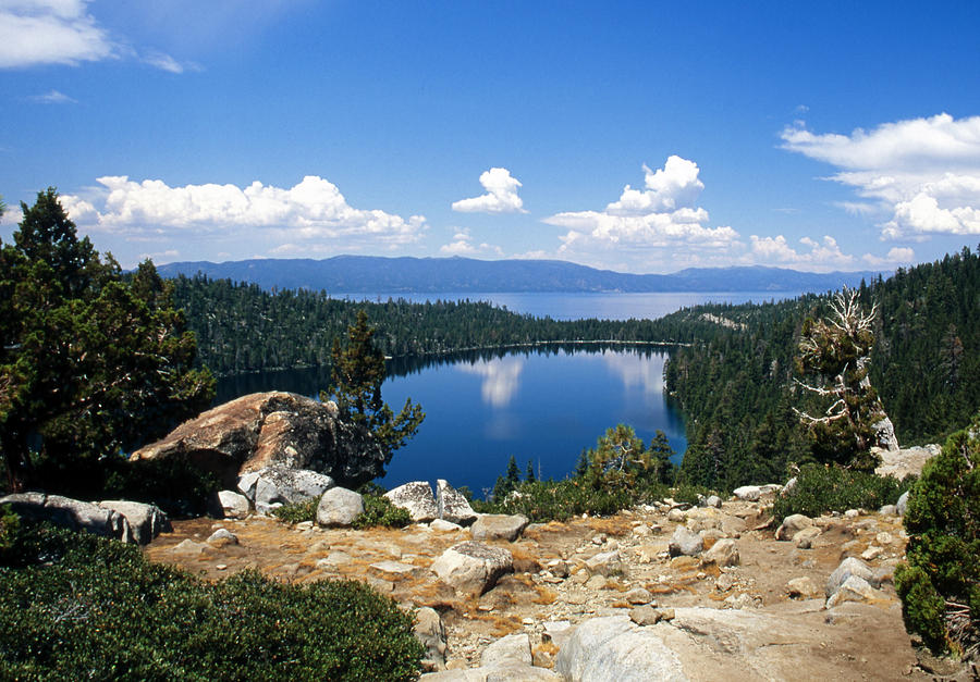 Lake Tahoe Photograph - Cascade Lake And Lake Tahoe by Troy Montemayor