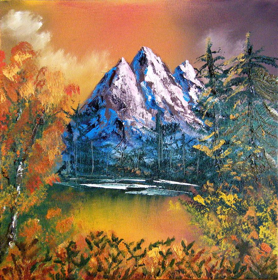 Landscape Painting - Cascade Lake Washington State by Margaret G Calenda - Cascade Lake Washington State Painting By Margaret G Calenda