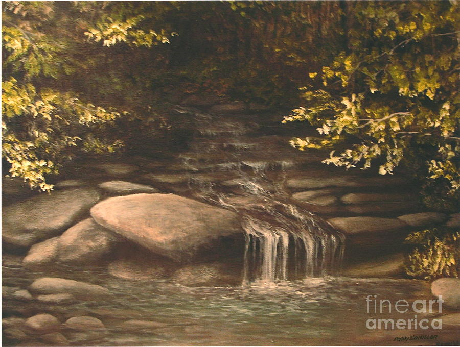 Nature Painting - Cascade by Penny Neimiller