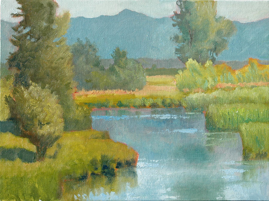Marsh Painting - Cascade Pond by Robert Bissett