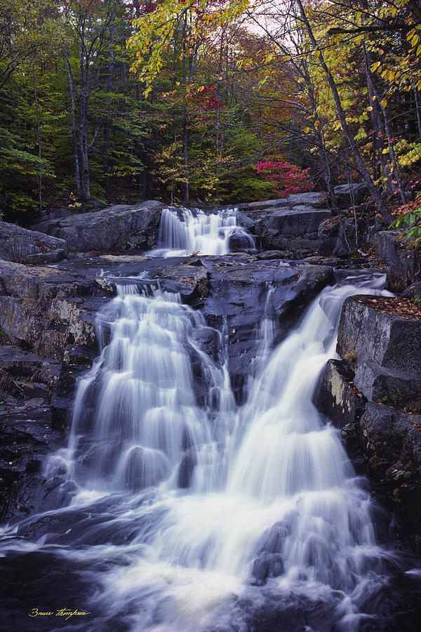 Waterfall Photograph - Cascades in Autumn by Bruce Thompson