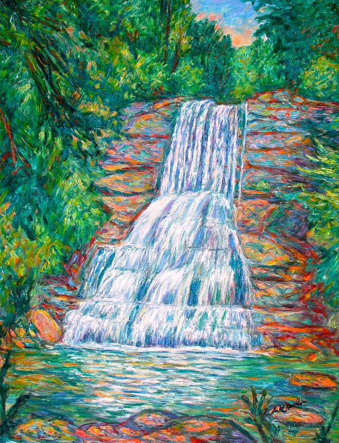 Cascades Painting - Cascades in Giles County by Kendall Kessler