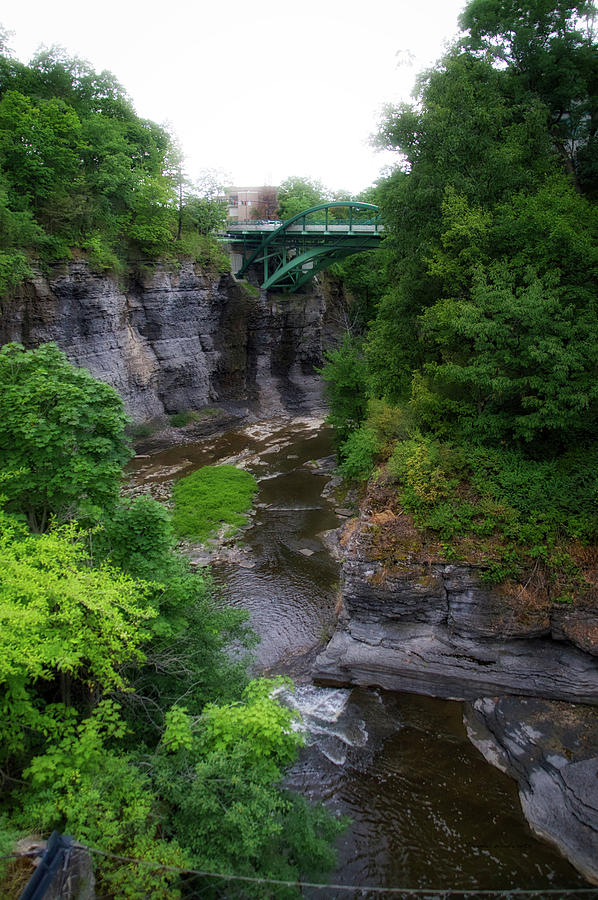 New York Photograph - Cascadilla Gorge Cornell University Ithaca New York 01 by Thomas Woolworth