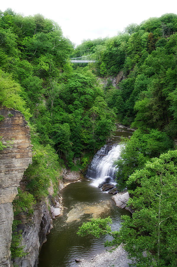Cornell University Photograph - Cascadilla Waterfalls Cornell University Ithaca New York 01 by Thomas Woolworth