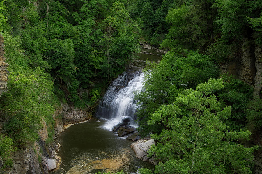 Cornell University Photograph - Cascadilla Waterfalls Cornell University Ithaca New York 02 by Thomas Woolworth
