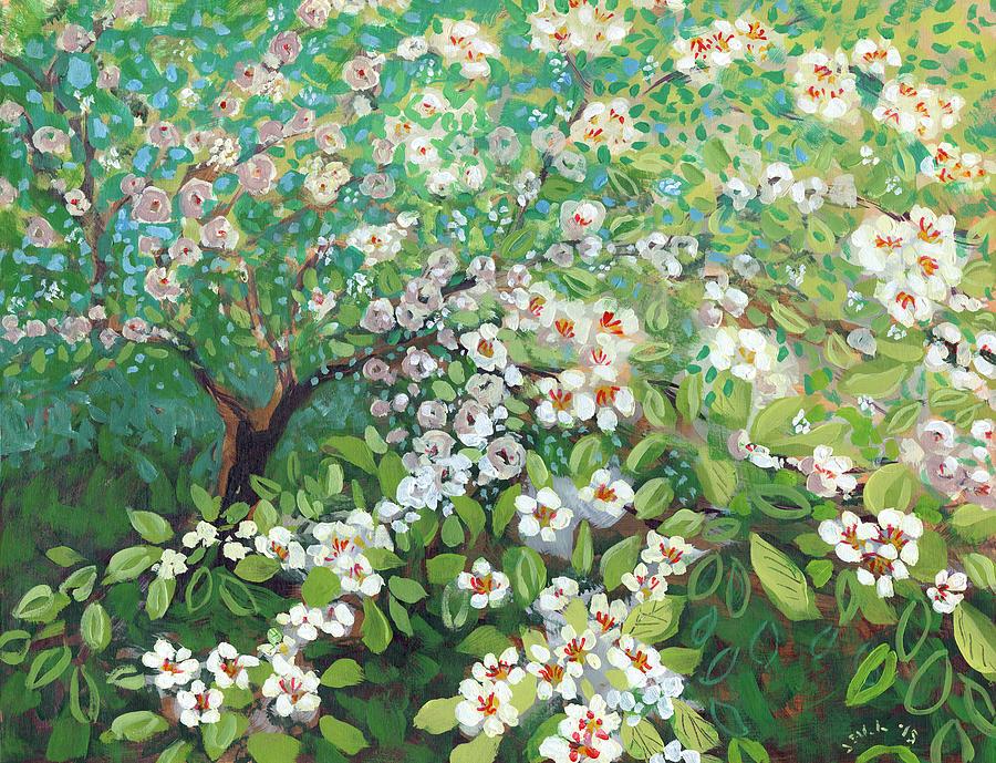 Landscape Painting - Cascading by Jennifer Lommers